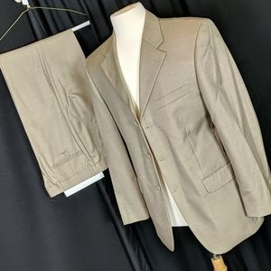 38r tan suit, costume use/as is, 19/162